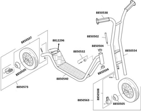 8900467 Ersatzteile für Winther Roller groß