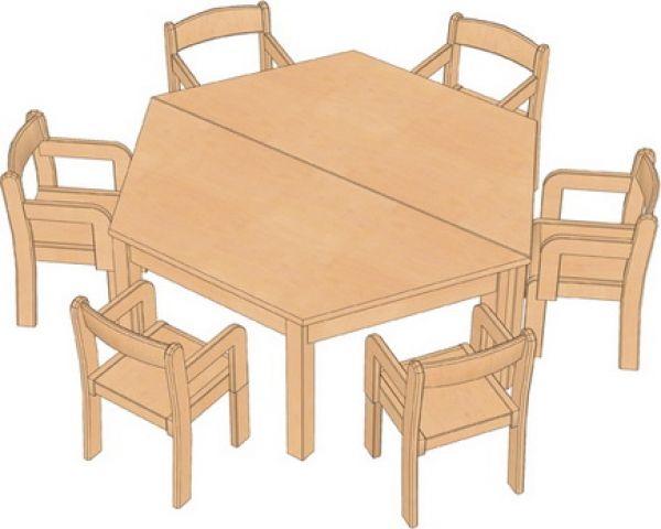 Kombi-Sparset Tisch/Stühle Set 17