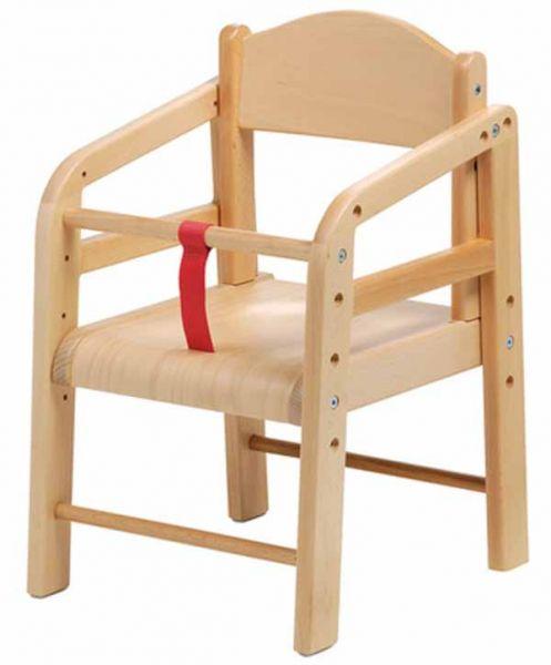Kinderkrippen-Stuhl Buche für 3 Sitzhöhen