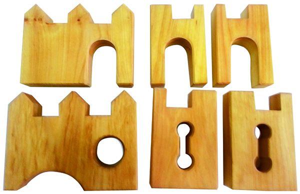 Ritterburg Ergänzung 6 Teile Bauspiel