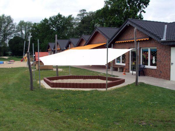 6-Eck Sonnenschutzanlage 5,20m x 6,00m