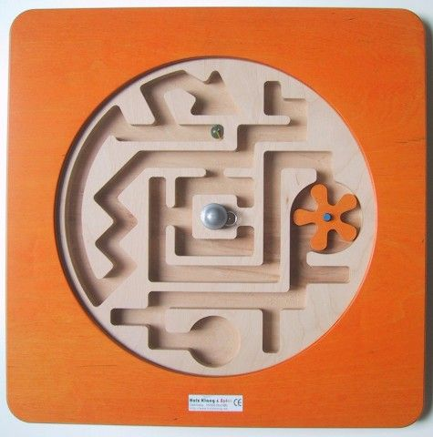 Wandspiel Labyrinth drehbar 48 x48 cm