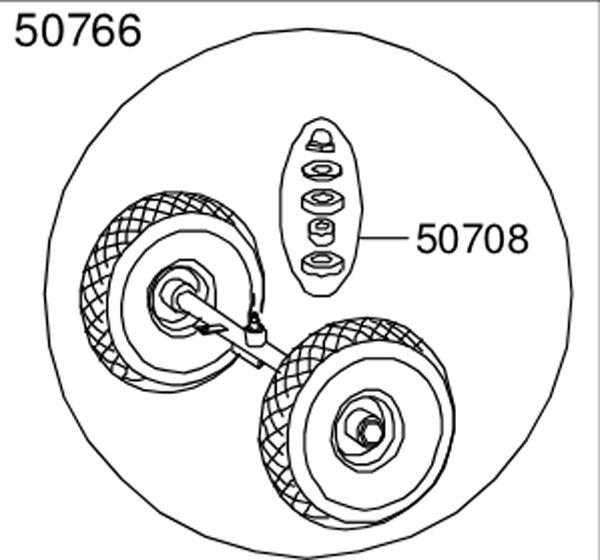 8850766 Hinterachse komplett mit Räder für 480 Funracer
