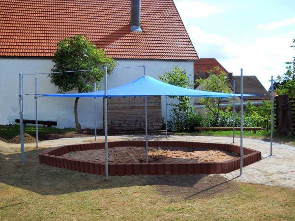 8-Eck Sonnenschutzanlage 5,50m x 5,50m
