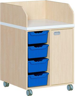 WIKO fahrbar 70,5 cm, 71 cm tief mit Tür und 4 Boxen
