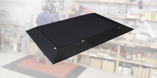 Anti-Ermüdungs Arbeitsplatzmatte 45mm, 13 tlg. inkl. Stecker.