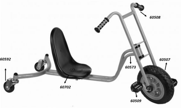 """64290 Ersatzteile für Beleduc """"Drift Rider"""""""