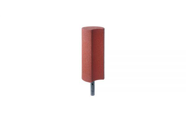 Palisaden aus Gummigranulat 600mm, Hohlkehle