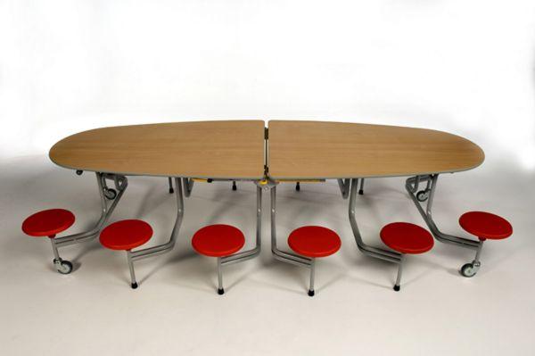 12er-Tisch-Sitz-Komb. oval Sico, 43,5cm Sitzhöhe