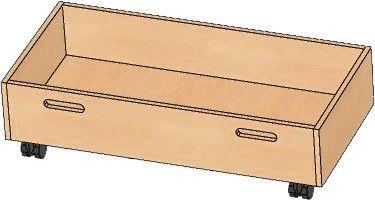 Rollkasten für Spielpodeste 78x20x33cm