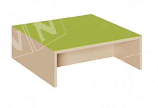 Quadrat Podest offen mit Mittelsteg 70x70cm