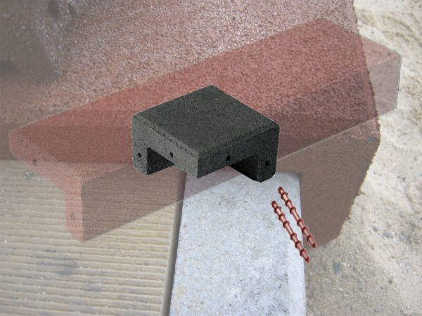 Winkelabdeckung Eckprofil 150x150x85mm