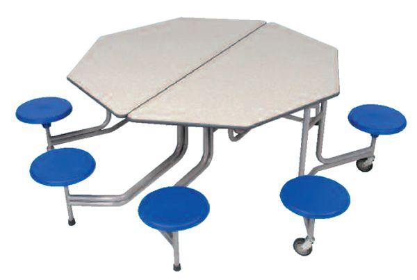 8er-Tisch-Sitz-Kombination hexagonal Sico, 43,5cm Sitzhöhe
