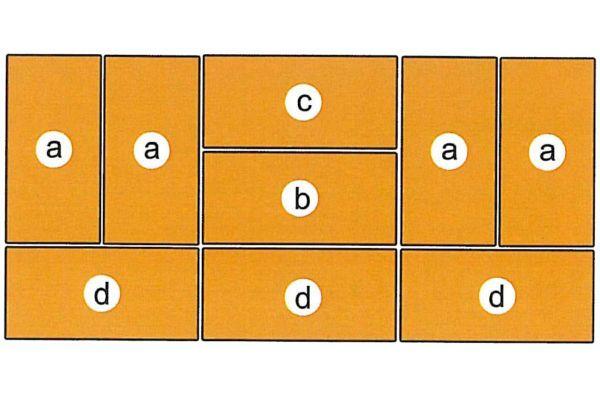 Mattensatz für Turnwand 130002 und 130003