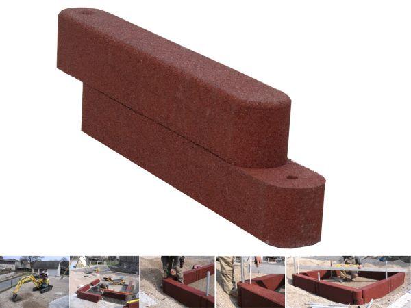Doppelblock Sandkastenelemente Soft Sandkastenumrandung.