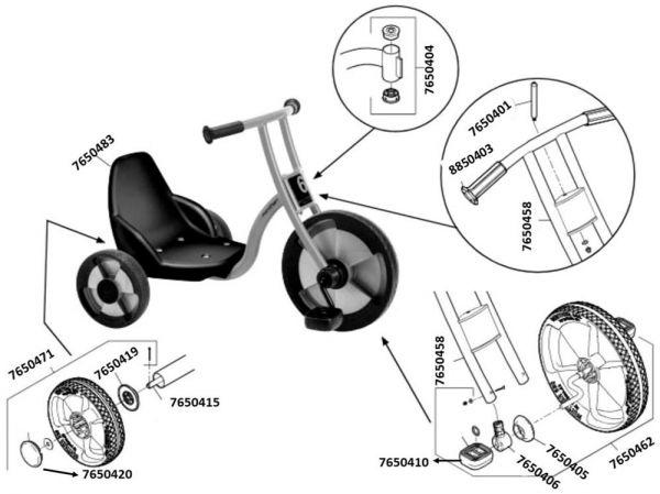 7500553 Ersatzteile für Jakobs Easy Rider aktiv