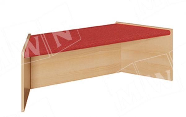Podest Trapez groß 1-seitig offen 125/78x40x40 cm