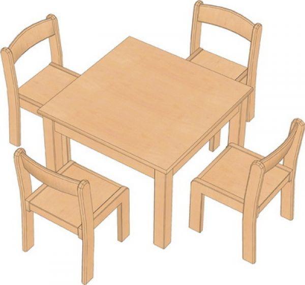 Kombi-Sparset Tisch/Stühle Set 15