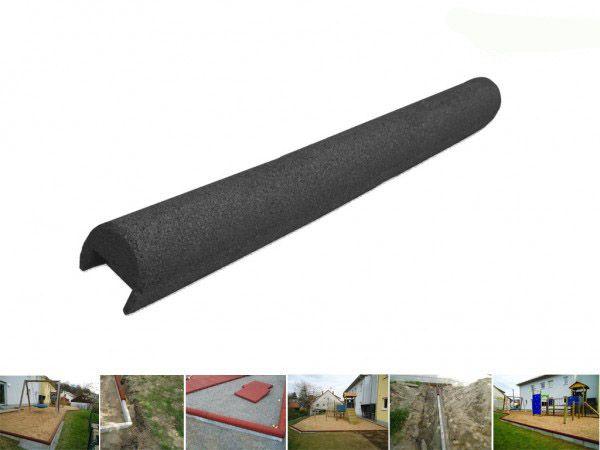 Gummigranulatüberzug für Beton Rabatten 80 mm
