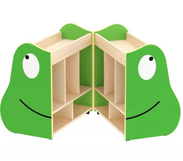 Bücherkiste Frosch fahr- und klappbar