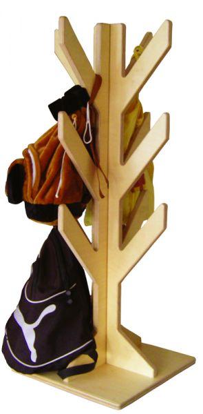 Rucksack- oder Taschenständer Holz