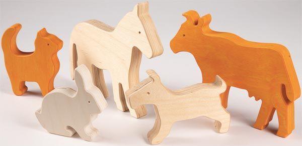 Spielfiguren Haustiere für Wandleiste