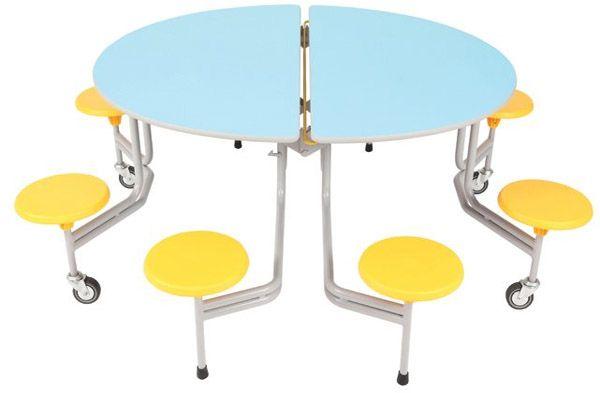 8er-Tisch-Sitz-Komb.rund oval Sico, 34,0cm Sitzhöhe
