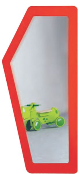 Spiegel großes 5-Eck B/H:70x134cm