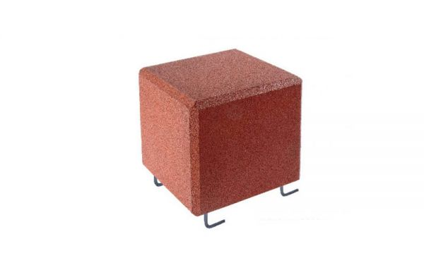Sitzwürfel mit Bodenanker aus Gummigranulat 400 x 400 x 400mm