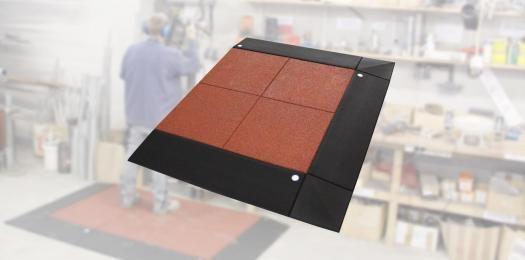 Anti-Ermüdungs Arbeitsplatzmatte 65mm, 10 tlg. inkl. Stecker.