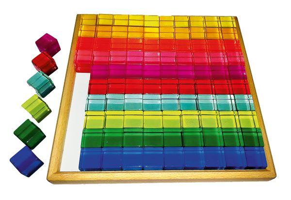 Acryl-Bauwürfel, 100 Teile Bauspiel
