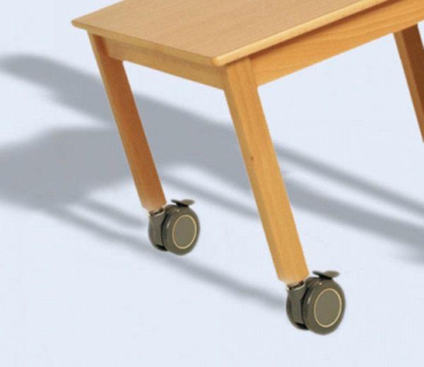 Rollen für Tische, Einbauhöe 85 mm 4er SetØ 75 mm mit Feststelle