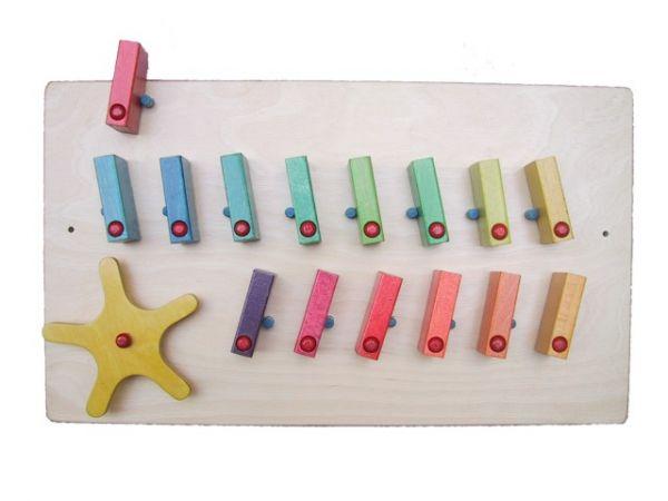 Wand - Domino 2-reihig mit Rad