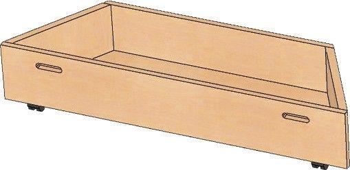 Rollkasten für Podest Trapez 117/70x36x36cm