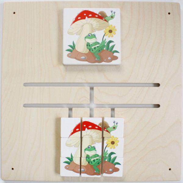 Wandspiel Lybyrinth-Puzzle Frosch/Pilz 48x48 cm