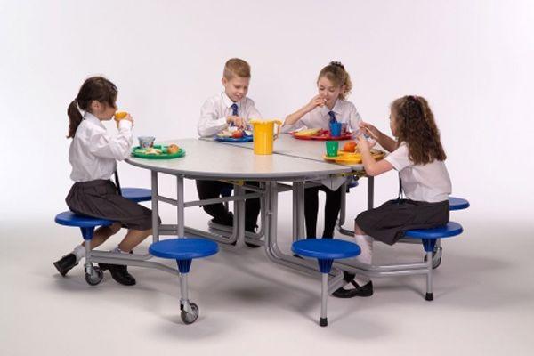 8er-Tisch-Sitz-Komb. rund oval Sico,38,5cm Sitzhöhe