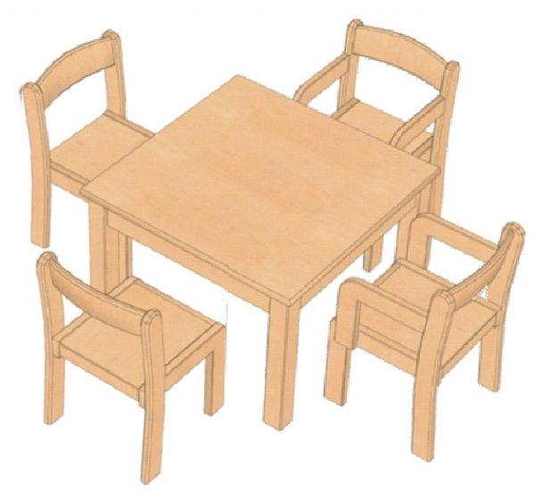 Kombi-Sparset Tisch/Stühle Set 1