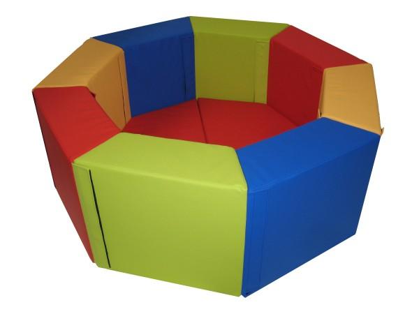 Ballbecken - 8-eckig mit Bodenplatte gepolstert