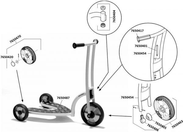 7500557 Ersatzteile für Jakobs Safety Roller aktiv