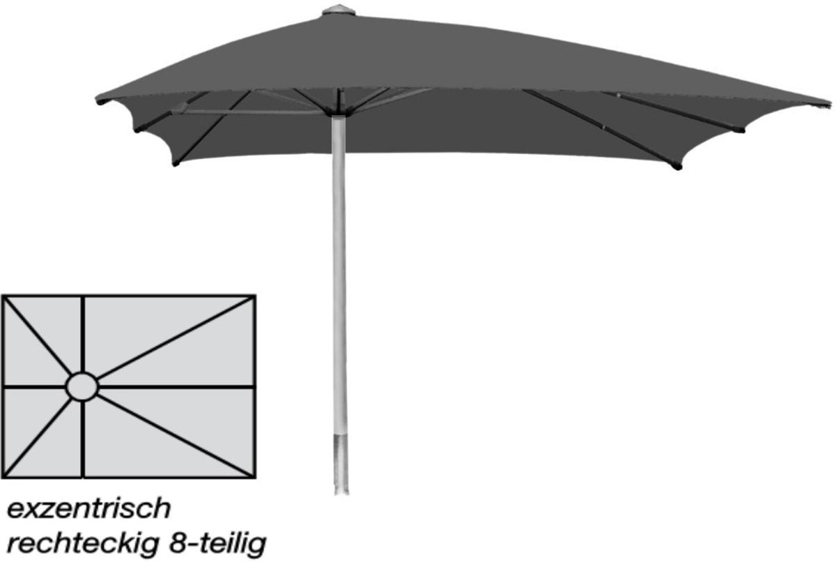 sonnenschirm ro flex klima pro rechteck lang exzentrisch. Black Bedroom Furniture Sets. Home Design Ideas
