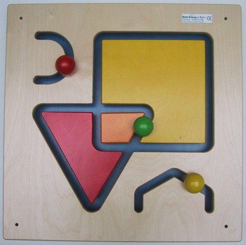 Wandspiel Form und Farbe 48 x48 cm
