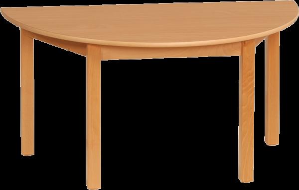 Halbrundtisch 120x60cm Dekor: HPL Buche