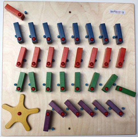 Wand - Domino 4-reihig mit Rad